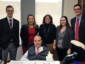 KU Law students with former U.S. Sen. Bob Dole