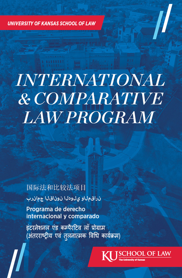 International and Comparative Law Program multilingual brochure