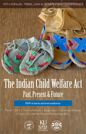 "Poster for ""The Indian Child Welfare Act: Past, Present and Future"""