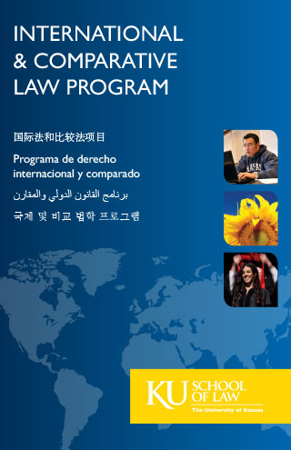 International & Comparative Law Program multilingual brochure