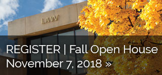 Register for a KU Law's Fall Open House on November 7 in Lawrence