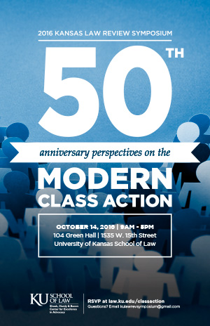 50th Anniversary Perspectives on the Modern Class Action
