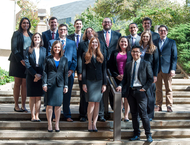 Members of the 2017-18 Moot Court Council