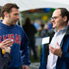 Dean Stephen Mazza talks to alumni at the Homecoming tailgate party
